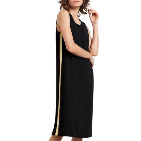 hush Black Laurie Side Stripe Dress