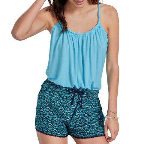 hush Turquoise Grecian Jersey Top