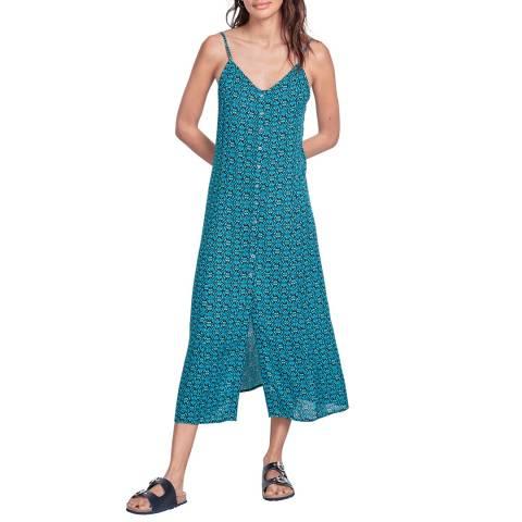 hush Blue Marjorie Button Dress
