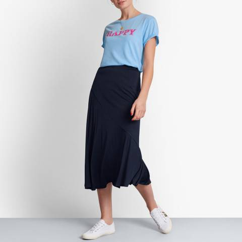 hush Navy Seam Detail Skirt