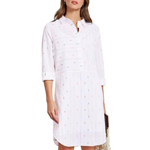 hush White Valletta Embroidered Dress