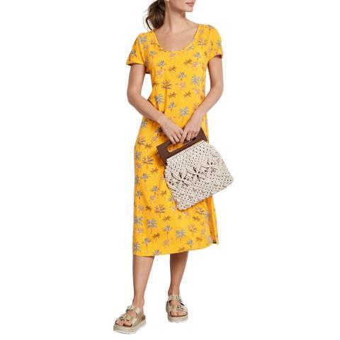 hush Yellow Woven T-Shirt Dress
