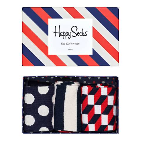 Happy Socks Striped Happy Socks 3 Pack Gift Box