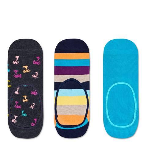 Happy Socks Multi Happy Sock 3 Pack Liner