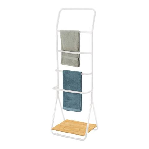 Wenko Verona Towel and Clothes Stand, White