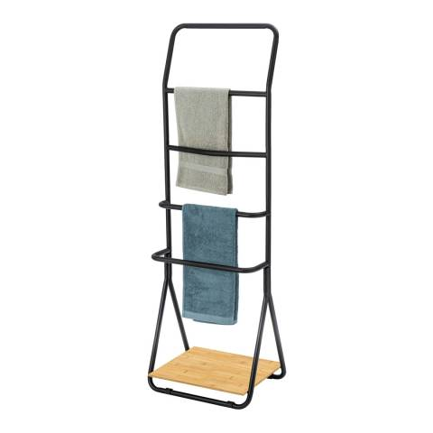 Wenko Verona Towel and Clothes Stand, Black
