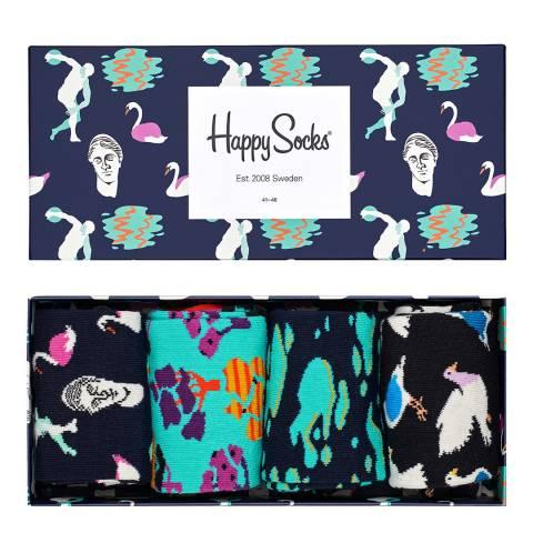 Happy Socks Multi Happy Socks 4 Pack Gift Boxed Socks