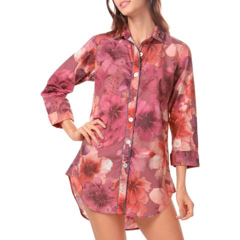The Lazy Poet Sissy Red Dahlia PJ Oversized Shirt