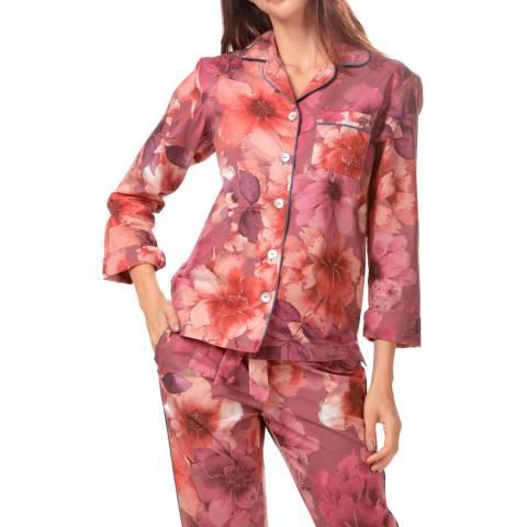 The Lazy Poet Emma Red Dahlia Long PJ Set