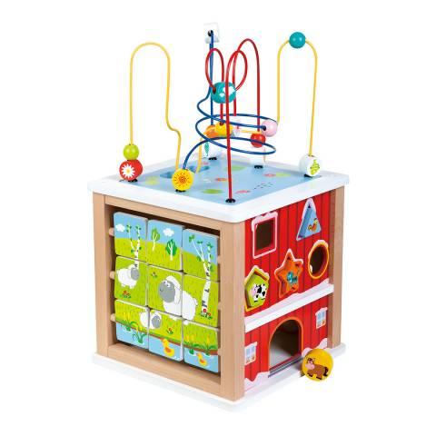 Lelin Toys Farm Activity Cube