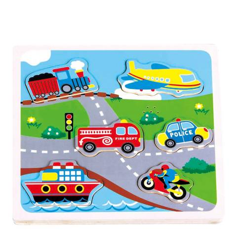 Lelin Toys Transport Sound Puzzle