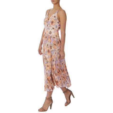 Reiss Pink Corinne Floral Print Dress