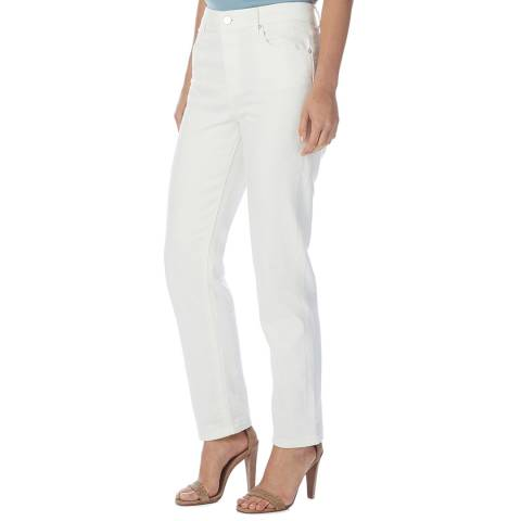 Reiss White Bianca Straight Stretch Jeans
