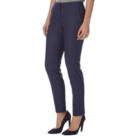 Reiss Navy Onix Textured Trousers