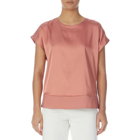 Reiss Blush Elissandra Button Back Top