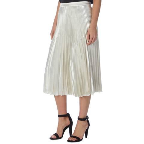 Reiss Silver Dorie Pleated Skirt