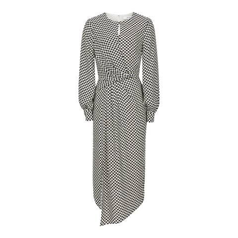 Reiss Black/White Dahlia Check Dress