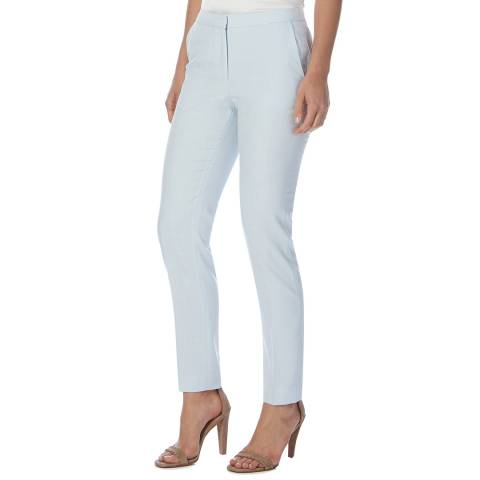 Reiss Light Blue Ruby Textured Tailored Trousers