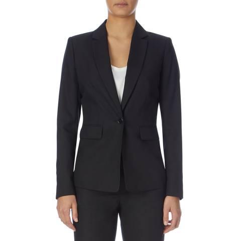 Reiss Black Onix Textured Tailored Jacket