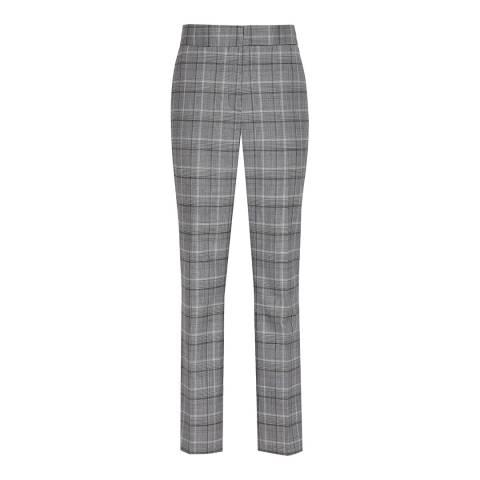 Reiss Grey Ora Check Trousers
