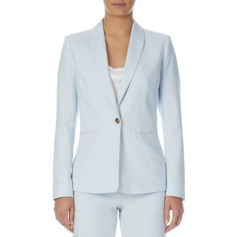 Reiss Light Blue Ruby Textured Tailored Blazer