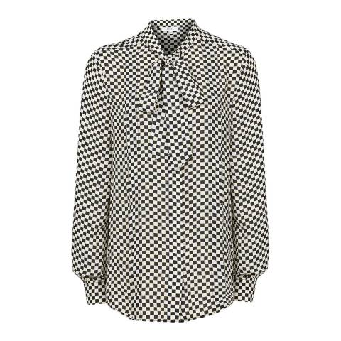 Reiss Black/White Caylee Check Shirt