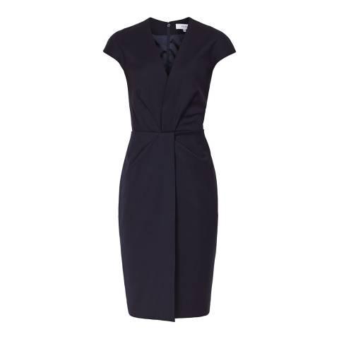 Reiss Navy Fenton Tailored Dress