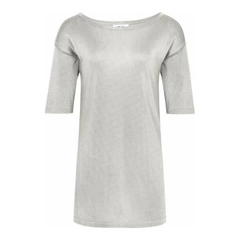 Reiss Mint Metallic Lilea T-Shirt