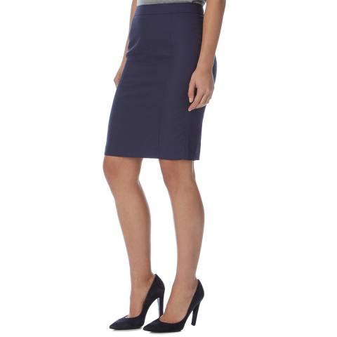 Reiss Navy Onix Textured Suit Skirt