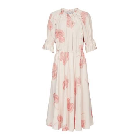 Reiss White Peaches and Cream Dress