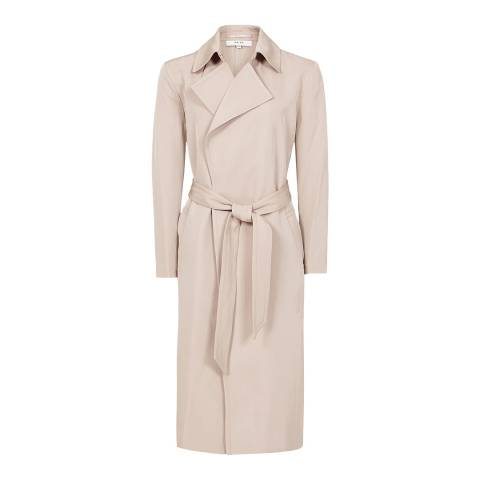 Reiss Blush Darcie Twill Longline Mac