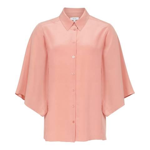 Reiss Pink Guila Silk Shirt