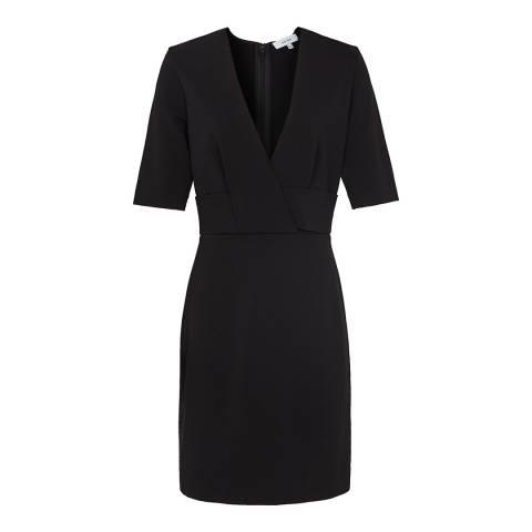 Reiss Black Rebecca Fitted Dress