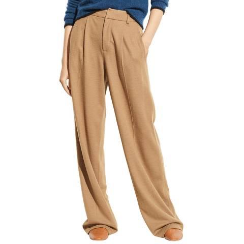 Vince Camel Cozy Wide Wool Blend Trousers