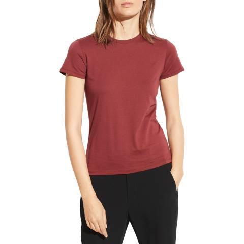 Vince Dark Red Essential Cotton T-Shirt