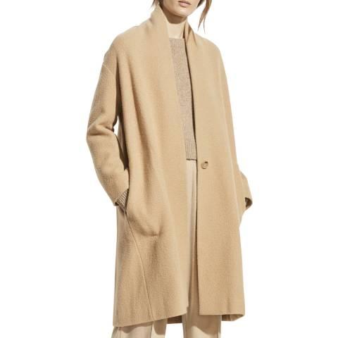Vince Beige Wool Blend Long Coat