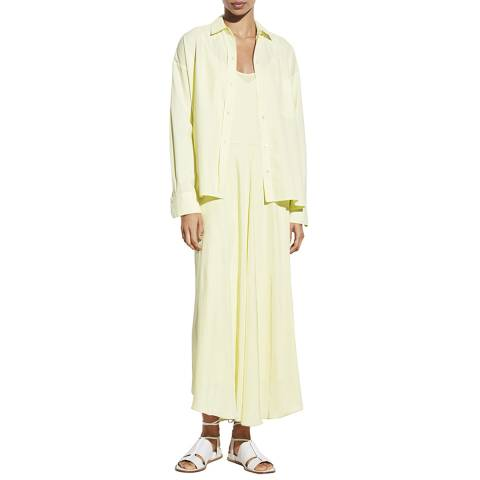 Vince Pale Yellow Double Layer Dress