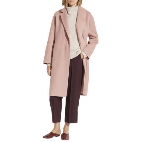 Vince Pink Belted Wool Blend Coat