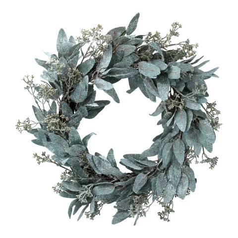 Gisela Graham Frosted Eucalyptus Leaf Wreath
