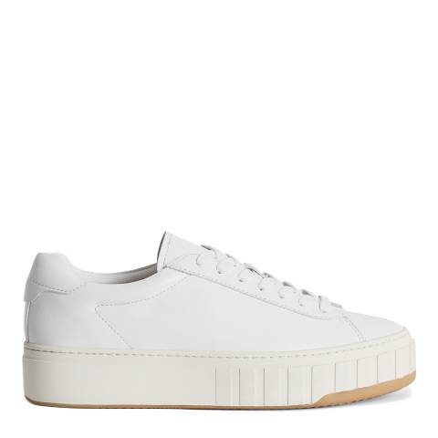 Reiss White Dover Street Leather Sneakers