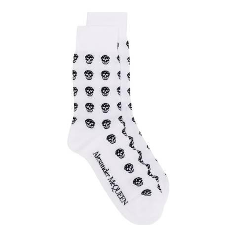 Alexander McQueen White Alexander McQueen Skulls Socks