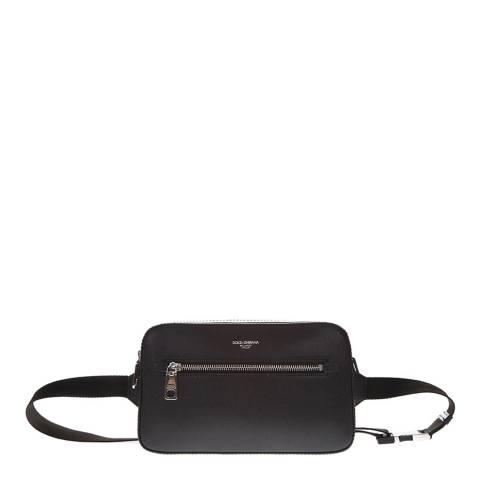 Dolce & Gabbana Men's Black Leather Crossbody/Belt Bag