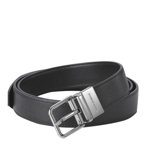 Dolce & Gabbana Men's Black Leather Belt
