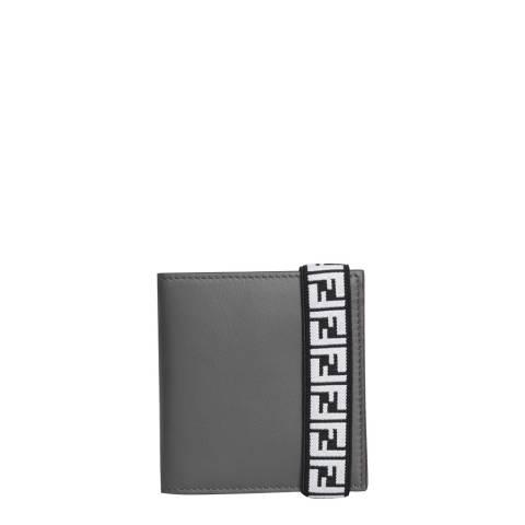 Fendi Grey/Red Fendi Bi-Fold Wallet
