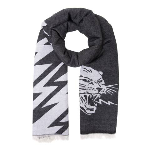 Givenchy Grey/White Givenchy Woven Scarf