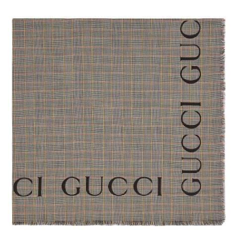 Gucci Multi Printed Gucci Scarf