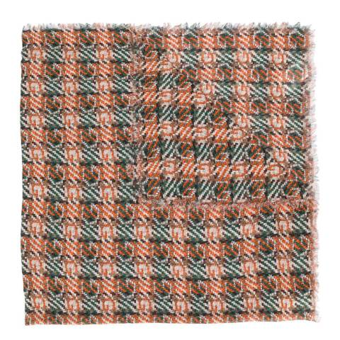 Gucci Olive/Orange Gucci Knitted Scarf