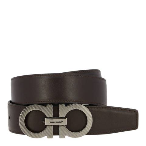 Salvatore Ferragamo Black Double Gancini Belt