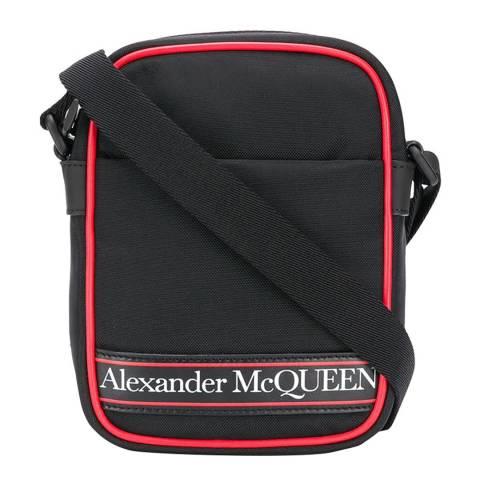 Alexander McQueen Men's Black/White/Red Crossbody Bag