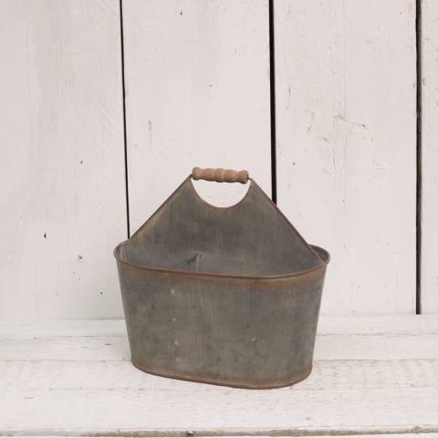 The Satchville Gift Company Oval metal carrier